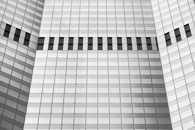 Black and white photo of part of 22 Bishopsgate, London
