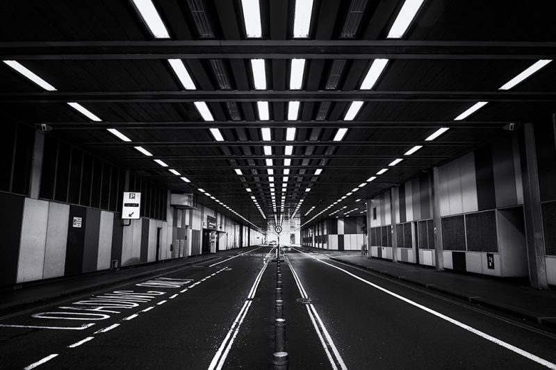 Photograph of the tunnel on Beech Street, London